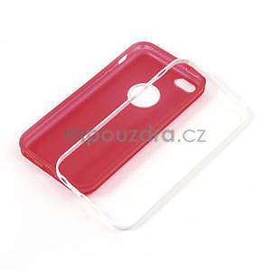 Gélové rámové puzdro pre iPhone 5C- červené - 4