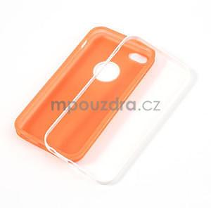 Gélové rámové puzdro pre iPhone 5C- oranžové - 4