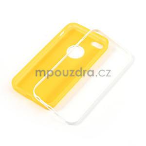 Gélové rámové puzdro pre iPhone 5C- žlté - 4