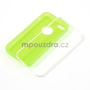 Gélové rámové puzdro pre iPhone 5C- zelené - 4