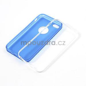 Gélové rámové puzdro pre iPhone 5C- modré - 4