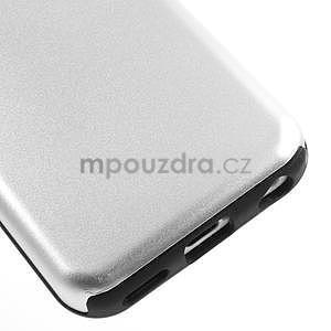 Gélové metalické puzdro pre iPhone 5C- biele - 4