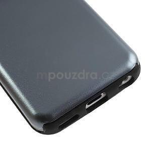 Gélové metalické puzdro pre iPhone 5C- šedé - 4