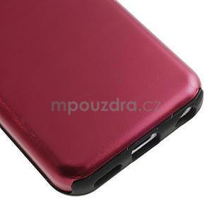 Gélové metalické puzdro pre iPhone 5C- červené - 4