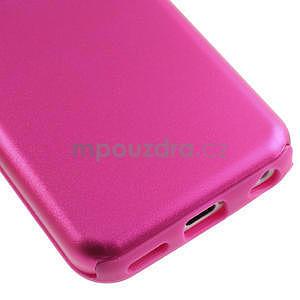 Gélové metalické puzdro pre iPhone 5C- růžové - 4