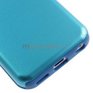 Gélové metalické puzdro pre iPhone 5C- svetlo modré - 4