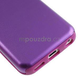 Gélové metalické puzdro pre iPhone 5C- fialové - 4