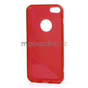Gélové S-line puzdro pre iPhone 5C- červené - 4