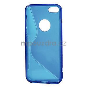 Gélové S-line puzdro pre iPhone 5C- modré - 4