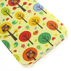 Gélové puzdro pre iPhone 5, 5s- Sovy a stromy - 4