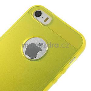 Gel-ultra slim puzdro pre iPhone 5, 5s- žlté - 4