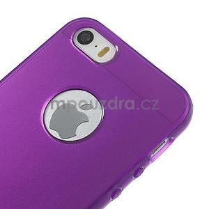 Gel-ultra slim puzdro pre iPhone 5, 5s-fialové - 4