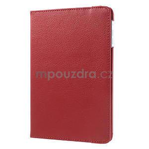 PU kožené 360° puzdro pre iPad mini- červené - 4