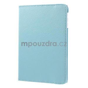 PU kožené 360° puzdro pre iPad mini- modré - 4