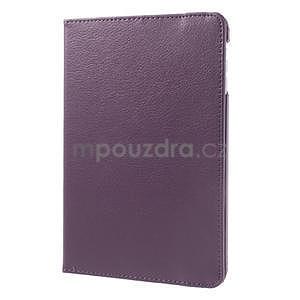 PU kožené 360° puzdro pre iPad mini- fialové - 4