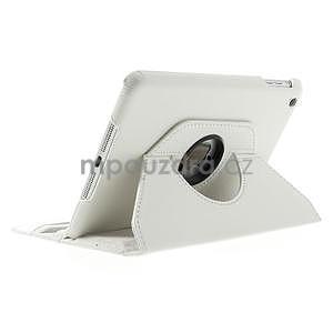 PU kožené 360° puzdro pre iPad mini- biele - 4