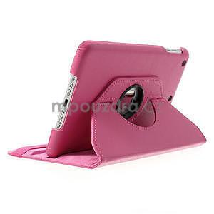 PU kožené 360° puzdro pre iPad mini- růžové - 4