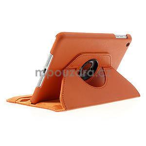PU kožené 360° puzdro pre iPad mini- oranžové - 4