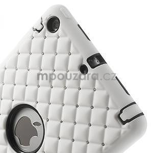 Hybridní kamínkové puzdro pre iPad mini- biele - 4