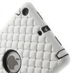 Hybridní kamínkové puzdro pre iPad mini- biele - 4/5