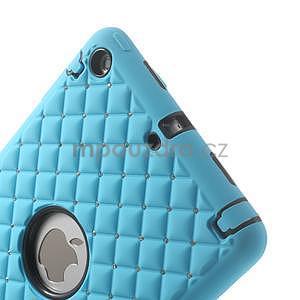 Hybridní kamínkové puzdro pre iPad mini- svetlo modré - 4