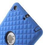 Hybridní kamínkové puzdro pre iPad mini- modré - 4/6