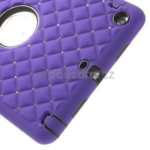 Hybridní kamínkové puzdro pre iPad mini- fialové - 4