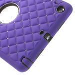 Hybridní kamínkové puzdro pre iPad mini- fialové - 4/6