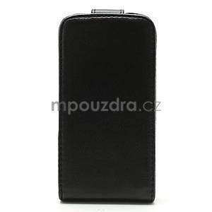 Flipové puzdro pre iPhone 4, 4s- čierné - 4