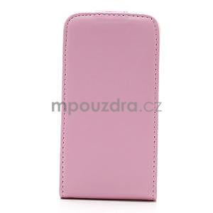 Flipové puzdro pre iPhone 4, 4s- svetleružové - 4