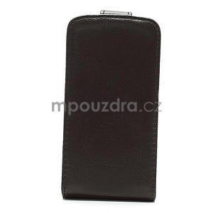 Flipové puzdro pre iPhone 4, 4s- coffe - 4