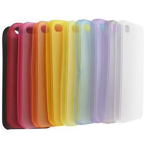 Gélové matné puzdro na Apple iPhone 4, 4S- červené - 4