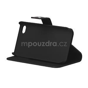 Peňaženkové puzdro pre iPhone 4, 4s- čierny puntík - 4