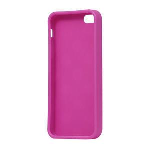 Gélové PUNTÍK puzdro pre iPhone 5, 5s- růžový - 4