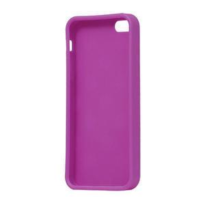Gélové PUNTÍK puzdro pre iPhone 5, 5s- fialový - 4