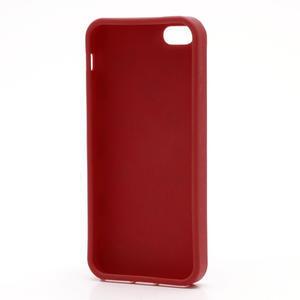 Gélové PUNTÍK puzdro pre iPhone 5, 5s- červené - 4