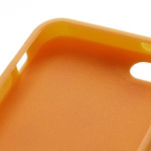 Gélové PUNTÍK puzdro pre iPhone 5, 5s- oranžové - 4