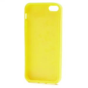 Gélové PUNTÍK puzdro pre iPhone 5, 5s- žlté - 4