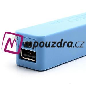 2600mAh externí baterie Power Bank - modrá - 4