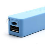 2600mAh externí baterie Power Bank - modrá - 4/6