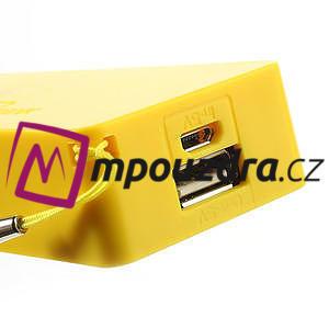 4000mAh externí baterie Power Bank - žltá - 4