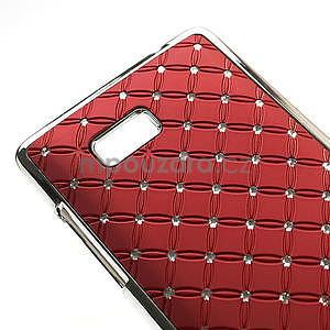 Drahokamové puzdro pre HTC Desire 600- červené - 4