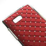 Drahokamové puzdro pre HTC Desire 600- červené - 4/5