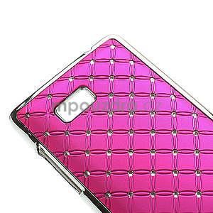 Drahokamové puzdro pre HTC Desire 600- ružové - 4
