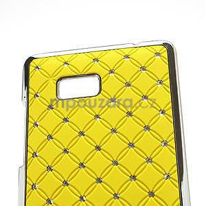 Drahokamové puzdro pre HTC Desire 600 -žlté - 4