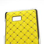 Drahokamové puzdro pre HTC Desire 600 -žlté - 4/5