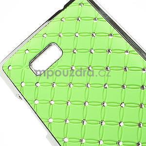 Drahokamové puzdro pre HTC Desire 600- zelené - 4