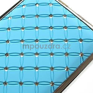 Drahokamové puzdro pre HTC Desire 600- svetlo modré - 4