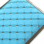 Drahokamové puzdro pre HTC Desire 600- svetlo modré - 4/5