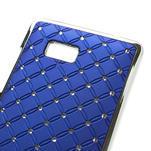 Drahokamové puzdro pre HTC Desire 600- modré - 4/5